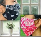 Fabric Face Mask Handmade USA 100% Cotton Adult Washable Reusable Reversible
