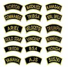 GOLDON Traditional Motorcycle Shoulder Title Patches Sew on Iron on Badges £1.99 GBP on eBay