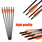 """18"""" 6/12X Crossbow Bolts Carbon Arrows for Archery Bows Hunting Target Shooting"""
