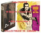 """DR. NO 1958 1st Ed. JAMES BOND French=BOOK & 1962 MOVIE POSTER 10Sizes 14""""-4.5FT $23.82 USD on eBay"""
