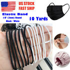 Black / White 3mm (1/8'') Round Elastic Band Cord Sewing For Diy Face Masks 10ya