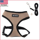 Dog Cat Mesh Harness with Leash Soft Comfort Adjustable Mesh Vest for Pet