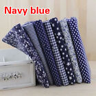 7PCS DIY Square Floral Cotton Fabric Patchwork Cloth For Craft Sewing 25*25 cm