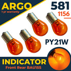 581 Indicator Bau15s Py21w Halogen Bulb Amber Yellow Rear 1156 Front Turn Signal