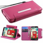 Pink Flip Leather Wallet Leather Stand Cover Case Pouch For LG Realm LS620