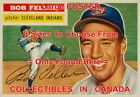 "BOB FELLER 1956 Cleveland Indians = POSTER Baseball Card 8 SIZES 17"" - 3 FEET on Ebay"