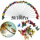 Garden Ornaments Fairy Lawn Party Decoration Butterfly Stakes Outdoor Yard Pot