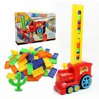 Domino Train Toy Set Rally Electric Train Model With 60Pcs Colorful Domino Game