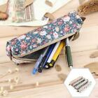 Flower Stationery Box Pen Holder Canvas School Girls Floral Makeup Pouch Bag 6t