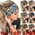 Women Elastic Turban Headwraps Headbands Sports Yoga Hair Bands Headbands