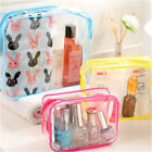 Transparent Cosmetic Bag Travel Toothbrush Toothpaste Stationery Storage Bag Li