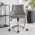 Velvet Office Desk Executive Computer Chair for Home Office Swivel Chair Grey