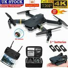 √Drone X Pro WIFI FPV 4K HD Camera 3 Batteries Foldable Selfie RC Quadcopter UK√