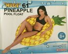 Giant 61' Pineapple Pool Party Float Raft Summer Outdoor Swimming Fun