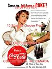 """COCA-COLA 1954 Tennis COME ON LET'S HAVE A COKE = POSTER 10 Sizes 17"""" - 4.5 FEET $48.88  on eBay"""