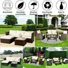 Rattan Garden Corner Sofa Table Chair Furniture Set Grey/brown/black Gray Patio