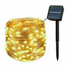 Waterproof Outdoor Garden Decor LED Solar String Light Lights Copper Wire Fairy