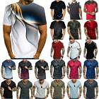 Mens Slim Fit O Neck Short Sleeve Muscle Summer Shirts Casual T-shirt Top Blouse
