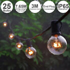G40 Globe String Fairy Party Lights 10.65M 25Bulb Connectable Waterproof Outdoor
