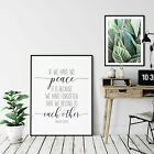 If We Have No Peace, Mother Teresa Quote, Nursery Print Room Wall Decor