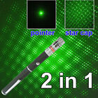 1/2PC Portable AAA Green Laser Pointer 532nm 2in1 Star Beam Lazer Pet Cat Toys