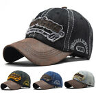 'Uk Adjustable Mens Vintage Baseball Cap Women Denim Sports Snapback Sun Hat