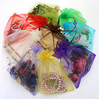 50pc Organza Gift Bags Jewelry Candy Bag Wedding Favor Bags Mesh Gift Pouche OS