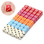 10Pcs 14Mm Six Sided Spot Fun Board Game Dice Games Party Gambling Game DicesRBE