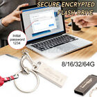 8-64GB Waterproof Secure Encrypted Password Protected USB Memory Stick Flash