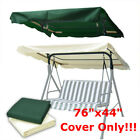 "76""x44"" Outdoor Patio Swing Canopy Top Replacement Cover Garden Uv30+ Usa"