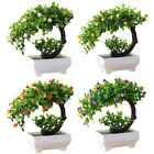 Am_ Artificial Plant Bonsai Fake Potted Flower Home Garden Decor Ornament Gift F