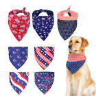 Flag Bibs Neckerchief Bandana Dog Collars Cat Neck Scarf Kerchief Saliva Towel