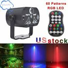 Kyпить 60 Patterns Laser Stage Light LED USB Charging Party Disco RGB Projection Lamp на еВаy.соm