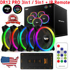Aigo Aurora 3/5pack Dr12 Pro Quiet Remote Asus Aura Sync 120mm Rgb Led Case Fans