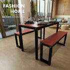 Wood Dining Table and Chairs Bench Set Kitchen Dining Room Home Furniture UK