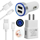 Fast USB AC Home Wall Car Charger Cable for AT&T Samsung Glaxy S10 S10e A9s A8s