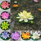 18cm Artificial Lotus Floating Water Lily Flowers Plants Home Decors Pond  Hf