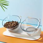 Pet Cat Dog Water Food Bowl Double/Single Bow with Raised Stand Feeder Bow