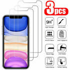3 Pack Glass Screen Protector Tempered For iPhone 6 7 8 Plus X Xs Max XR 11