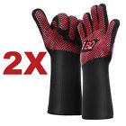 662°F Heat Proof Resistant Oven BBQ Gloves 35cm Kitchen Cooking Silicone Mitt AU