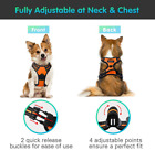 Dog Harness No Pull Walking Pet Harness with 2 Metal Rings and Handle