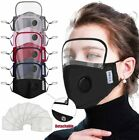 Face Cover with Eyes Shield Reusable Face Mask, Free for 2 Filters [USPS FREE]