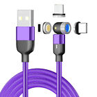 3 in 1 360°+180° Magnetic Fast Charging Charger Cable For iPhone 11 X Type C USB