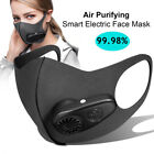 Adult Reusable Electric Outdoor Air Purifying Face Mouth Mask With Filter Cover