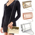 Shiny High-Gloss Patent Leather Women Envelope Clutch Magnet Closure Handbag