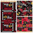 "chicago blackhawks fabric NEXT DAY SHIP 10""x44"" cotton - good for masks $8.0 USD on eBay"