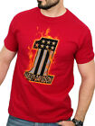 Harley-Davidson Mens Fire #1 Flames Deep Red Short Sleeve T-Shirt $14.99 USD on eBay