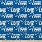 """detroit lions fabric 10""""x58"""" NEXT DAY SHIP cotton GOOD FOR MASKS $9.0 USD on eBay"""
