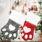 Christmas Stocking Pet Dog Cat Paw Socks Tree Hanging Gift Bags Home Decorations