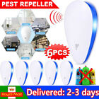 6PCS Ultrasonic Electronic Pest Repeller Mouse Cockroach Reject Insect Killer UK